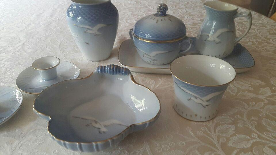 Porcelæn, Mågestel med guldkant, Bing og Grøndahl