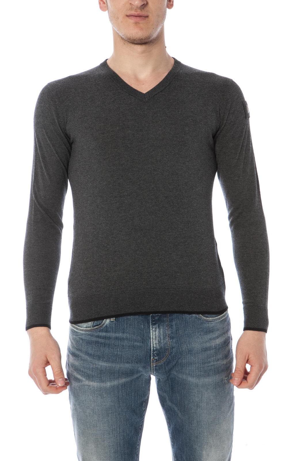Maglia Maglietta Armani Jeans AJ Sweater Pullover Cotone  Herren Grigio U6W75TT F2