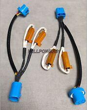 2x PLUG & PLAY HID LED 50w resistor canceler harness 9007 9004 hi-low bi-xenon