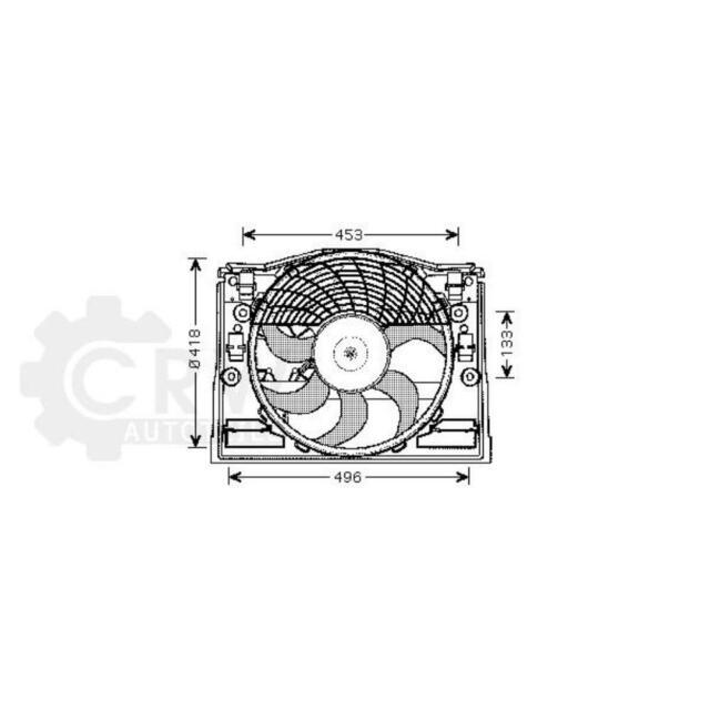 Lüfter Motorkühlung für BMW 3er Compact E46 Touring Cabriolet