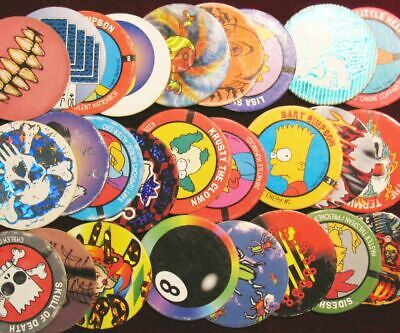 Retro Game Nostalgia! Lot of 50 Disney Themed Pogs Milk Caps Unsorted