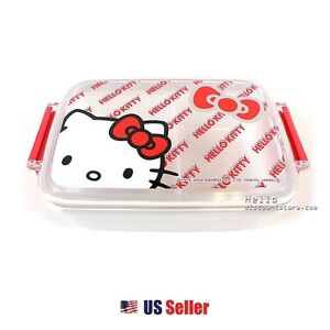 Hello-Kitty-Lunch-box-Container-2-Separate-Compartment-White