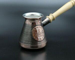 2-3 Tasses Cafetière Cuivre Arménien Coffee Pot Maker Cezve Ibrik Arménie Jezve-afficher Le Titre D'origine