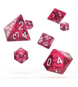 Oakie-Doakie-Dice-RPG-Cube-Set-Speckled-Pink-7-Role-Playing-Game-Cube-Box-Pink