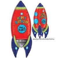 36 Rocket Rocketship Blasting Space Astronaut Balloon Party Free Shipping