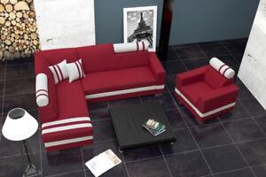 Ambitieux Sofa Canapé-lit Designer Sofa Avec Bettfunktion + Bettkasten Firr Canapé Neuf-afficher Le Titre D'origine
