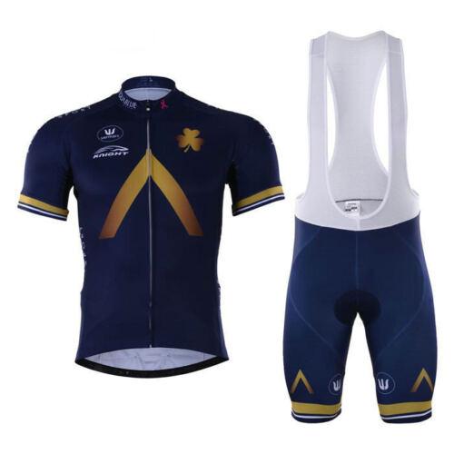 XSG175 Road Mens Racing MTB Cycling Short Sleeve Jersey and bib 3D GEL PAD