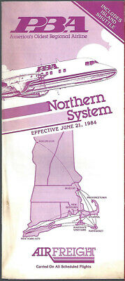 2019 Fashion Pba Provincetown Boston Airlines Northern System Timetable 6/21/84 [9022] Buy 2