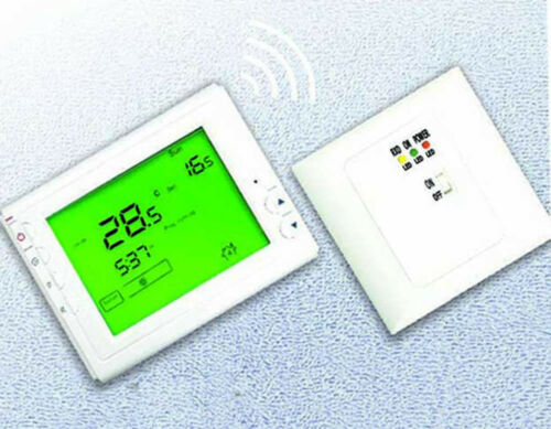 Wireless programmable residential heating Thermostat for electric//water heating