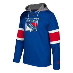 Details about New York Rangers NHL Adidas Men's Blue Team Platinum Jersey Pullover Hoodie