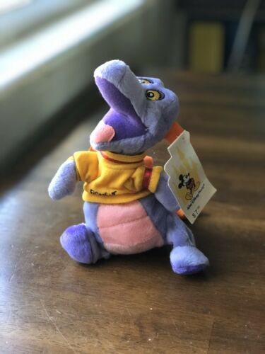 "RETIRED Walt Disney World Mini Bean Bag Epcot Figment 8"" Beanie Plush Toy NWT"
