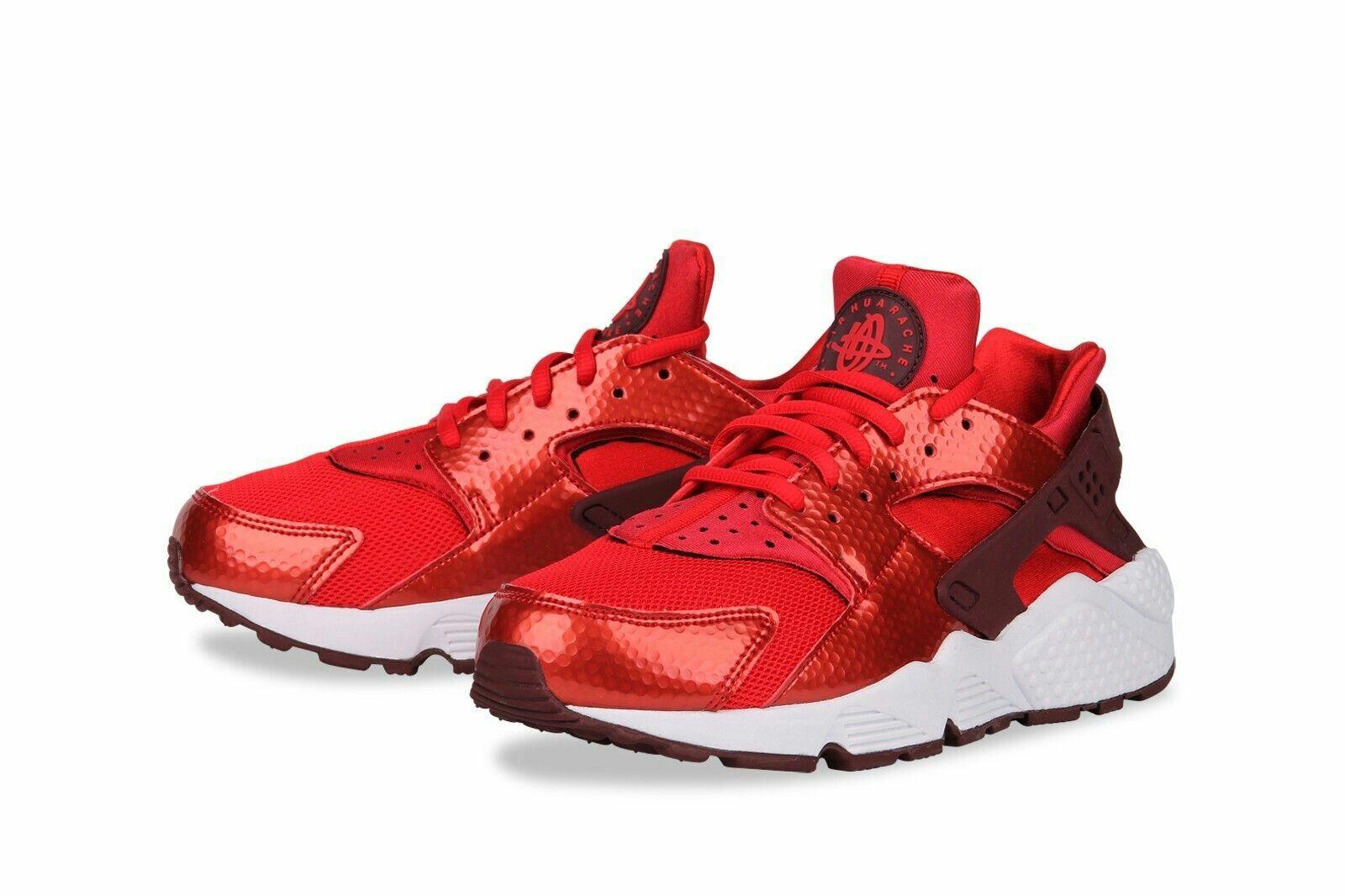 Womens Nike Air Huarache Run Trainers Red Size UK 4 EUR 37.5
