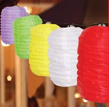10 LED OVAL HANGING SOLAR STRING GARDEN LANTERNS NOVELTY  LIGHT LAMP SET