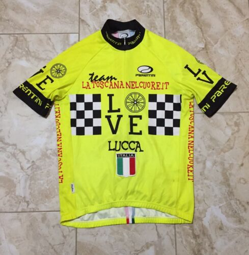 Parentini Italia Made In Italy Cycling Jersey Size Men's Large