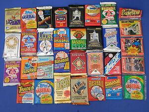 Details About Liquidation Sale Huge Lot Unopened Baseball Card Packs Vintage 20 Years Old