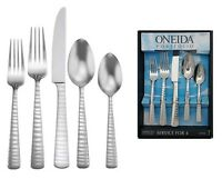 Oneida Lynx 20 Piece Service For 4 Stainless Flatware
