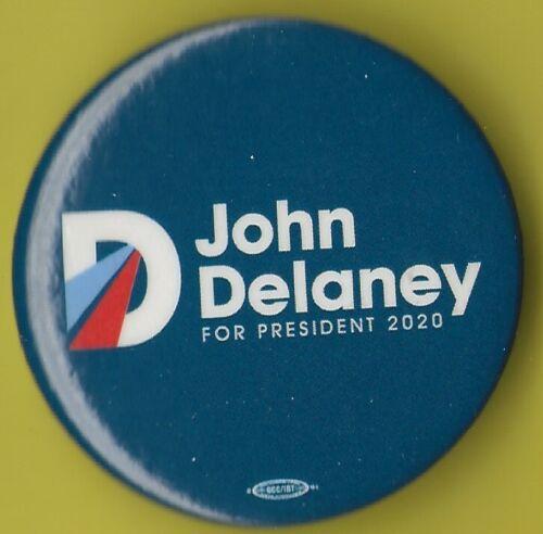 "D Presidential Hopeful Campaign Button OP-1 2020 John Delaney 1.75/""// OFFICIAL"