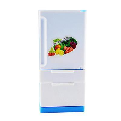 1//12 Doll House Fridge Double Door Freezer Refrigerator Toy Home Appliance