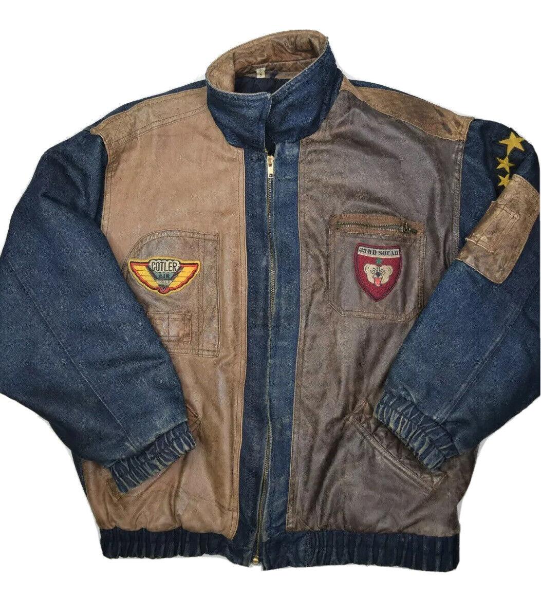Vintage 1980/'s Cotler Short Black Jacket with Brown Specks Size 40