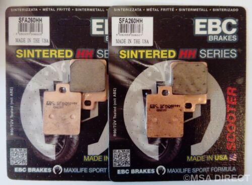 300 Piaggio MP3 125 250 400 500 EBC Sintered FRONT Brake Pads SFA260HH