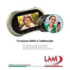 Spioncino per porte LKM Security® con funzione WiFi + GSM SICUREZZA CASA SPIA