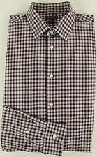 ESPRIT Hemd KW 43-44 Gr. ca. 52 rot grau Freizeithemd Chemise Camisa Baumwolle