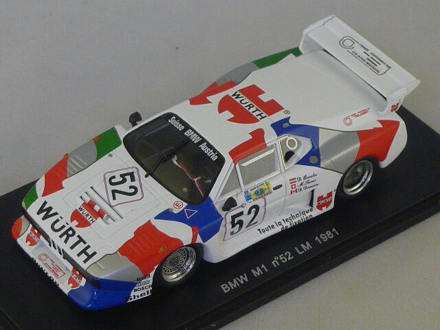 SPARK S1583 - Bmw m1 groupe 5 N°52 le mans 1981 Deacon - Quester  1 43
