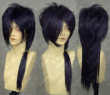 Hakuouki / Saito a Cosplay Party Long Wig  ink Purple