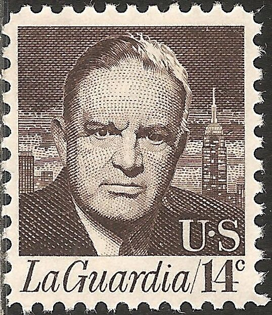 1972 14c Fiorello LaGuardia, Mayor of New York City Sco