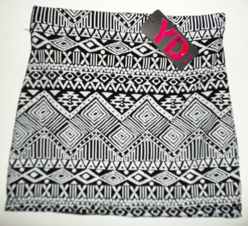 Girls Black and White Skirts with Aztec print design