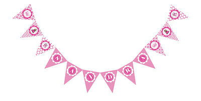 Pink Princess Party PERSONALIZED Birthday Party Pennant Banner