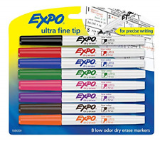 New Listingexpo 1884309 Low Odor Dry Erase Markers Ultra Fine Tip Assorted Colors