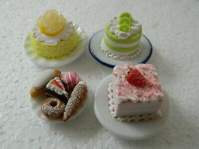 (c1.14) 1/12th Scala Casa Delle Bambole Torte: Fatti A Mano Assortiti Per Torte Set-mostra Il Titolo Originale