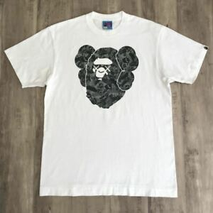 A-BATHING-APE-BAPE-Kaws-Collabo-Big-Head-TEE-Size-L-Super-Rare