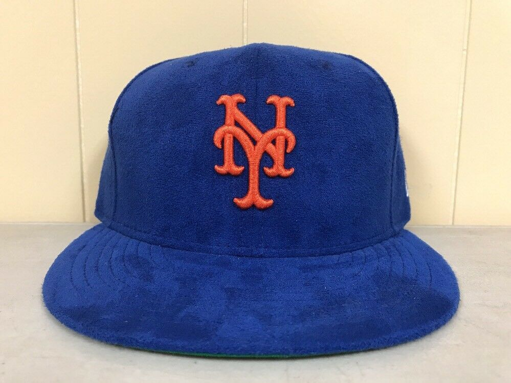 Brand New New Era Size Mets 7 7/8 New York Mets Size Fitted Hat BLUE/ORANGE cef1cb