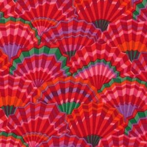 41-034-Remnant-Rowan-Kaffe-Fassett-Paper-Fans-Fabric-PWGP143-Red-Limited-Edition
