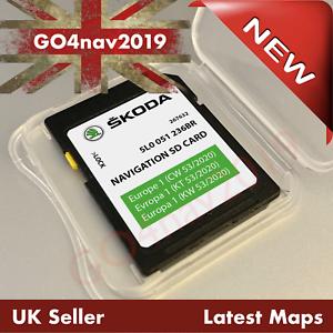 Lo más nuevo Skoda GEN2 MIB2 Amundsen 2 SD tarjeta SAT NAV mapa Reino Unido y Europa 2020-2021