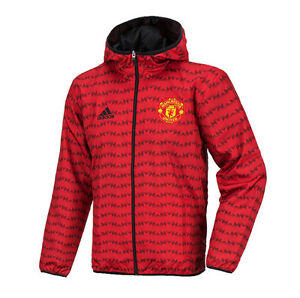 Adidas Manchester United Wind Breaker Jacket Hood AC4299 Soccer Football Coat