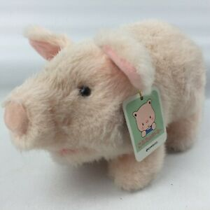 Vintage-Iwaya-Pudgey-Pig-Plush-Walking-amp-Oinking-1986-Made-in-Japan-Rare