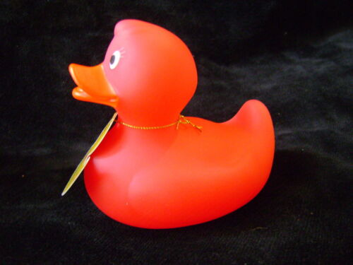 RSW PS463 NEW RED TO WHITE BATH DUCK TOY COLOUR CHANGING SQUEAKING SQUEAK 3M