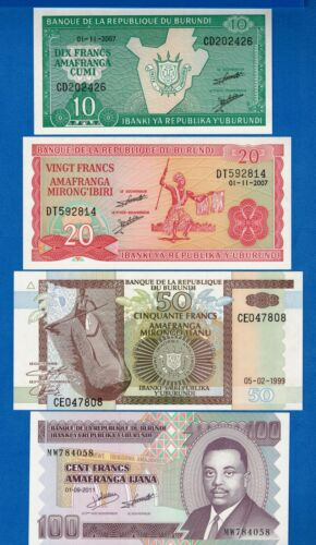 P-33 P-36 Burundi P-27 P-44 Uncirculated Banknotes SET #6