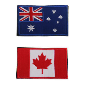 Australia flag Embroidered Badge Iron On Patch 10x AUSTRALIAN FLAG Sew On