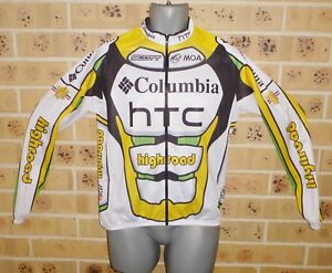 New-Unworn-Large-Mens-Long-Sleeved-Cycling-Top-Zipped-Top-Shop-Quality