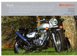 Royal Enfield Trials Motorcycle 2009 Uk Market Single Sheet Sales Brochure Ebay