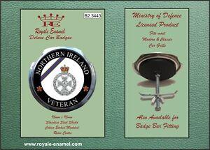 Royale Car Grill Badge - ROYAL GREEN JACKETS NORTHERN IRELAND VETERAN - B2.3443