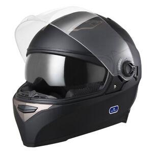 DOT Motorcycle Full Face Helmet Dual Visor Scooter Street Bike Touring Sports