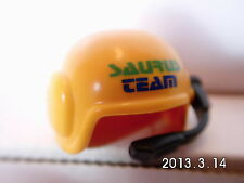 s158D-Playmobil- Kopfbedeckung - Hut / Helm Pilot mit Funk , Saurusteam