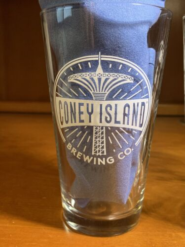 2 Glasses ~ NEW Coney Island Brewing Co Pint Glass 16 oz ~ Set of Two