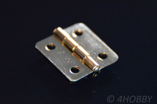 coffret Doré 16x13mm Gold 10 mini-Charnières pour bijoux
