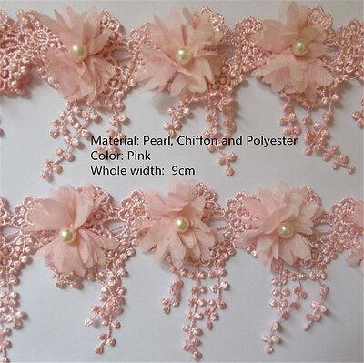 Vintage Polyester Cotton Lace Edge Trim Wedding Ribbon Applique DIY Sewing Craft